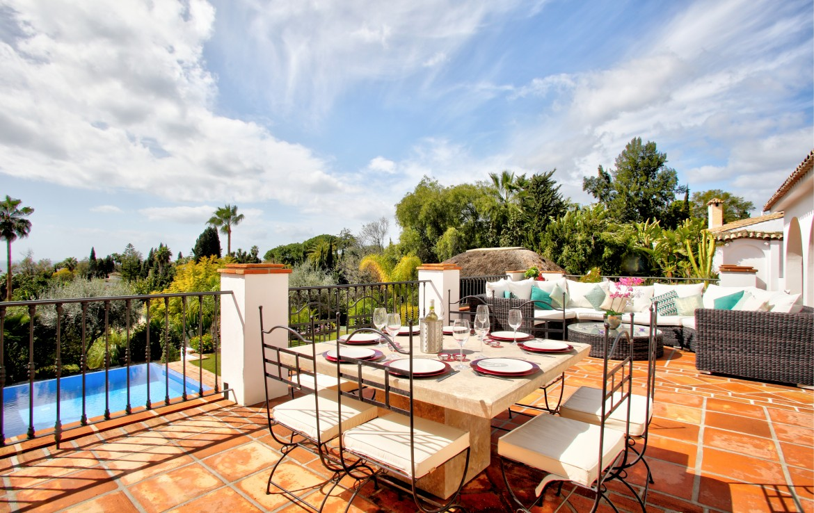mediterranean style villa, marbella, golden mile, la carolina, close to beach, golf, sea, playa, private swimming pool, rustic, andalusian, sea, garden